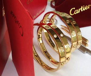 cartier, bracelet, and gold image