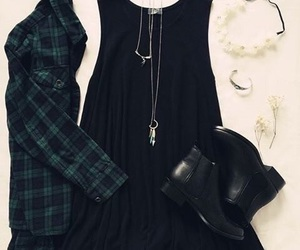 accessories, black shoes, and clothes image