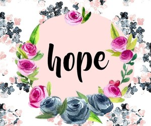 blue, flowers, and hope image