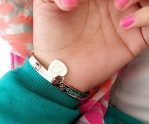 bracelet, hands, and nailpolish image