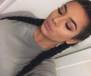 makeup, braids, and goals image