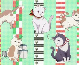 anime, aph, and cat image