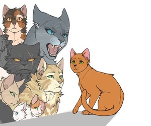 sandstorm, warrior cats, and fireheart image