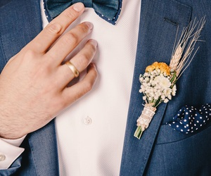 groom, suit, and sunflower image