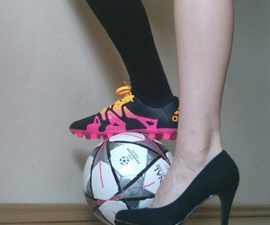 football, girl, and in love image