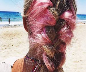 beach, summer, and braid image