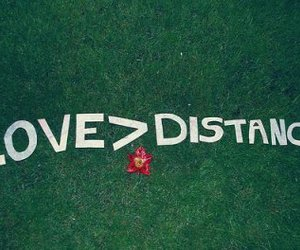 love, distance, and text image