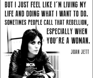 joan jett, quotes, and rebel image