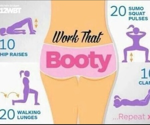 booty, work out, and fesse image