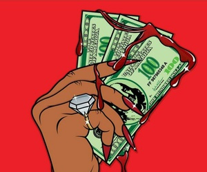 money, gangsta, and thug image