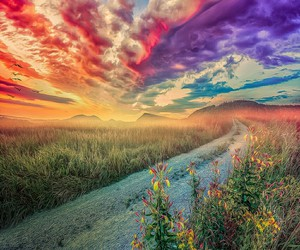 art, nature, and clouds image