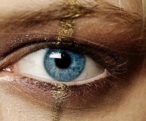 gold, eye, and eyes image