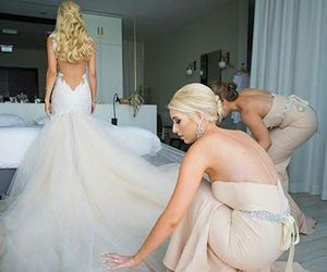 wedding, beautiful, and bride image