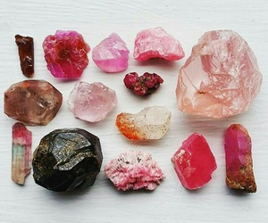 stones, crystal, and pink image