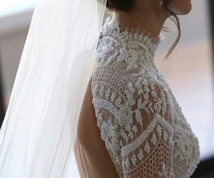 bride, dress, and hair image