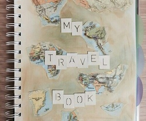travel, book, and diy image