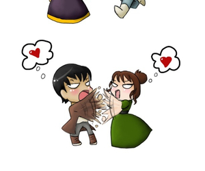 cartoon, pride and prejudice, and love image