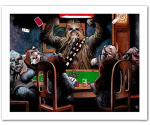 cards, poker, and chewbacca image