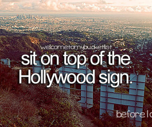 hollywood, sign, and hollywood sign image