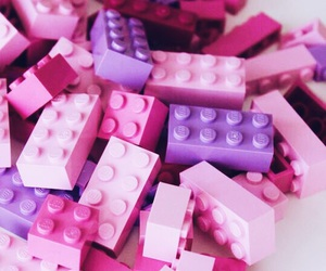 baby pink, legos, and pink image