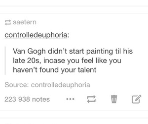 qoute and van gogh image