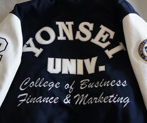 college, jacket, and korea image