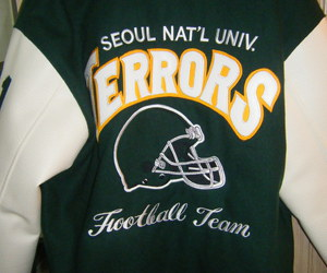college, football team, and korea image