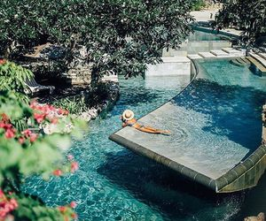 summer, pool, and travel image