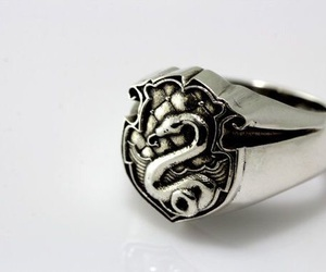 harry potter, ring, and slytherin image