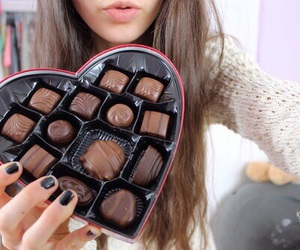 chocolate, lips, and cute image