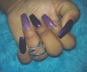 glitter, nails, and midirings image