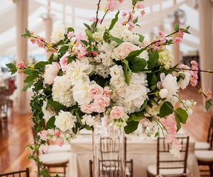 wedding, centerpiece, and floral arrangement image