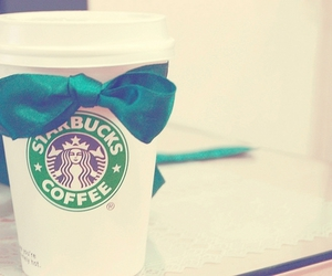 starbucks, coffee, and bow image