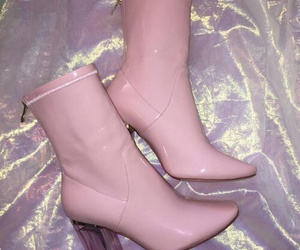 pink, boots, and shoes image