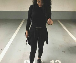 fashion, style, and all black image
