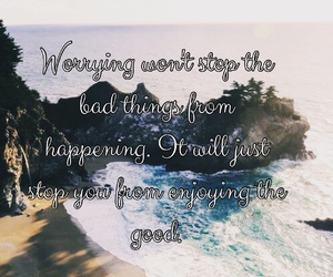 life, quote, and worry image