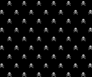 iphone, skull, and wallpaper image