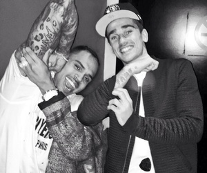 chris brown, antoine griezmann, and tattoo image