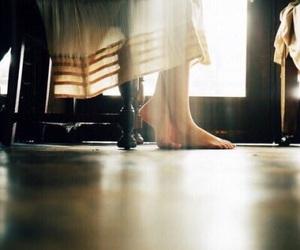 dress, feet, and light image