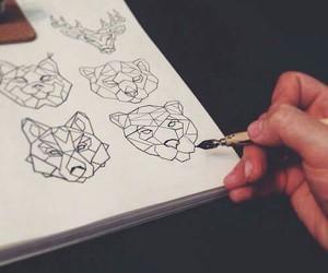 animal, art, and drawing image