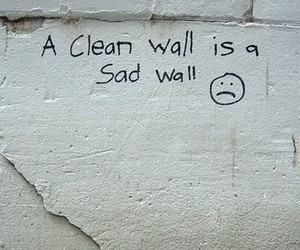 wall, sad, and quote image
