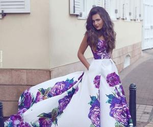 dress, style, and purple image