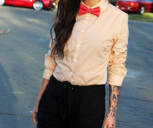 bowtie, photography, and fashion image
