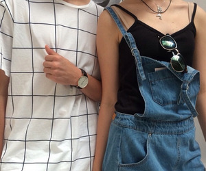 grunge, couple, and outfit image