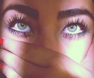 beautiful eyes, blue eyes, and girl image
