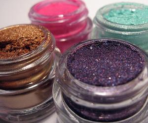 makeup, glitter, and eyeshadow image