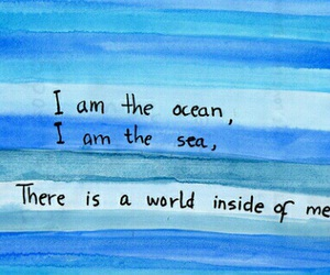 ocean, quotes, and sea image