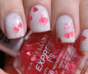 nails, hearts, and heart image