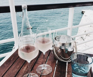 drink, summer, and sea image