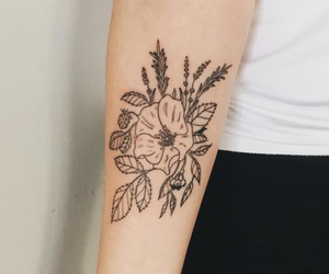alternative, indie, and flower tattoo image